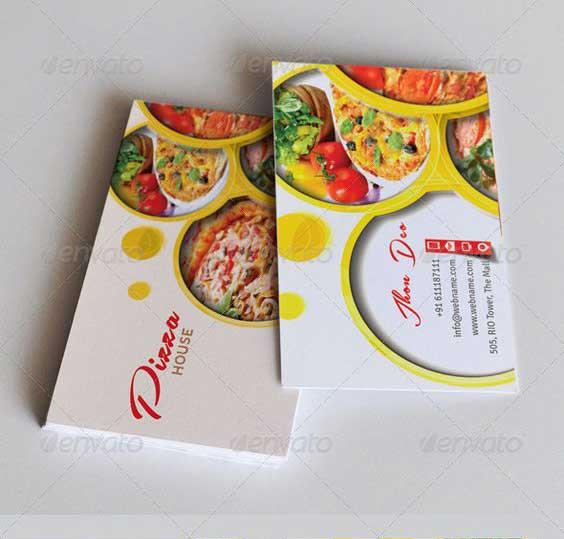 mẫu card visit pizza